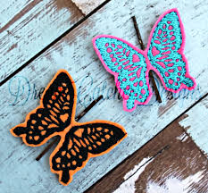 Monarch Design by Ith Bobby Pin Monarch Butterfly Feltie Embroidery Design