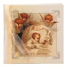 terra traditions photo album terra traditions baby s journey record book baby with cherubs