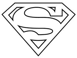 superman logo coloring pages funycoloring