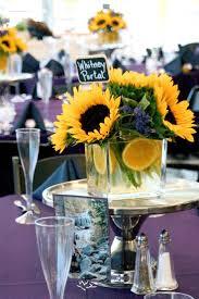 Centerpieces With Sunflowers by Best 25 Sunflower Wedding Flowers Ideas On Pinterest Sunflower
