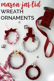 jar lid wreath ornaments great craft