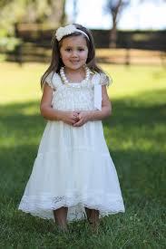 ivory chiffon girls dress flower dresses white dress lace