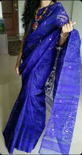 bangladeshi jamdani saree ink blue bangladeshi jamdani saree all hind 1