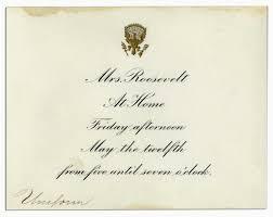 House Invitation Card Lot Detail Edith Roosevelt White House Invitation Card