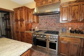 Red Mahogany Kitchen Cabinets Kitchen Interior Simple Brick Red Kitchen Cabinets On Design