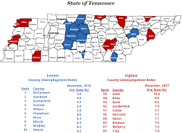 Tennessee Map Of Counties by December Unemployment Rises In All Tennessee Counties Tn Gov