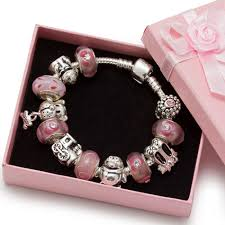 bead bracelet european images Pink murano glass beads kid child silver charm beads european jpg