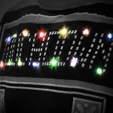 raiders light up christmas sweater new orleans saints klew black light up ugly sweater