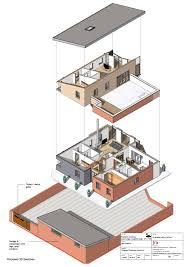 exploded isometric of bim model vectorworks pinterest autocad