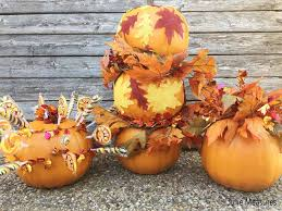 diy thanksgiving pumpkin decor topiary and centerpieces julie