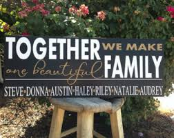 wedding quotes joining families blended family sign etsy