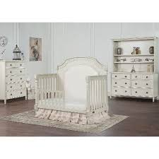White Convertable Crib Cloud White Convertible Crib Toddler Rail Julienne Rc Willey