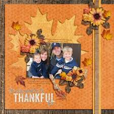 premade scrapbook layout thanksgiving premade by ohioscrapper