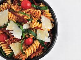 fusilli with spinach and sun dried tomato pesto recipe quick