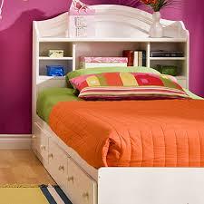 Bedroom Furniture Bookcase Headboard by South Shore Summer Breeze Twin Mates Bed U0026 Bookcase Headboard