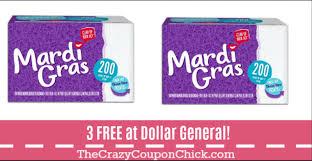 mardi gras napkins score 3 free mardi gras napkins at dollar general no coupons needed
