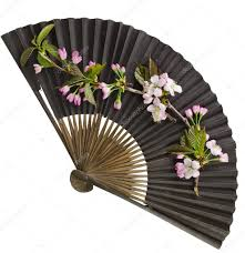 decorative fan black decorative japanese paper fan stock photo madllen
