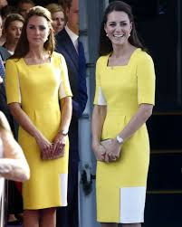 kate middleton dresses kate middleton honours australia in yellow dress but william calls