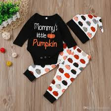 2017 boutique hat pants t shirt suit halloween baby newborn