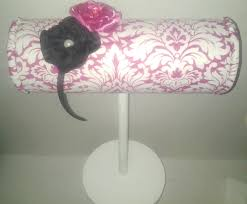 headband stand boutique headband display pink damask with wood stand craft show