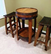 Handcrafted Wood Tables Whiskey Barrel Pub Table Handcrafted From A Whiskey Barrel