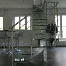Banister Glass Gorgeous Chrome Polished Handrail With Cool Glass Stairs Step Foot