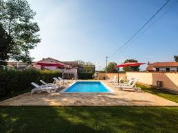 house with pool built in authentic istrian stone style tinjan