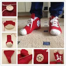 pattern crochet converse slippers crochet converse slippers pattern free beesdiy com