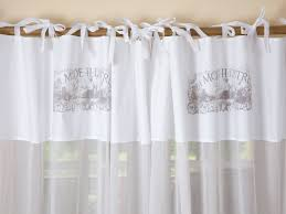 white linen tie top curtains decoration and curtain ideas