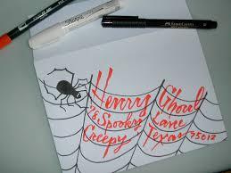 halloween invitations lettering art studio