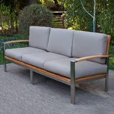 Milano Patio Furniture Milano Deep Seating Sofa Teak Outdoor Furniture Terra Patio