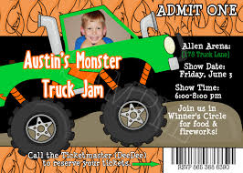 monster truck show austin monster madness diy printable photo invitation by by moomootutu