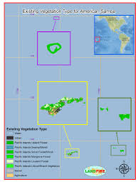 American Samoa Map Landfire Program Applications