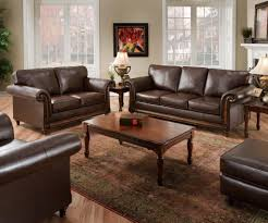 Brown Leather Sofa And Loveseat Simmons Upholstery 8001 04q San Diego Coffee Bonded