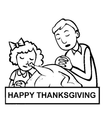 pray and thanks on thanksgiving day coloring page
