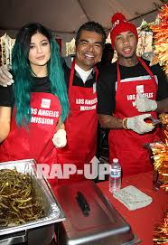 tyga and jenner serve thanksgiving meals to the homeless