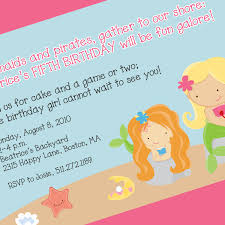 Backyard Birthday Party Invitations by Mermaid Party Invitations Plumegiant Com