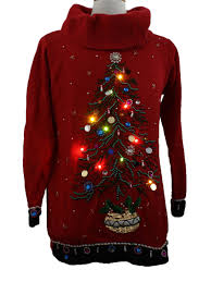 womens lightup ugly christmas sweater b p design womens red
