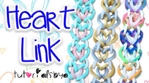 link bracelet with heart images New heart link rainbow loom bracelet tutorial how to jpg