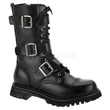 motorcycle ankle boots mens riot 12 combat boot by demonia