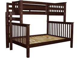 bunk beds twin over full end ladder cappuccino 445