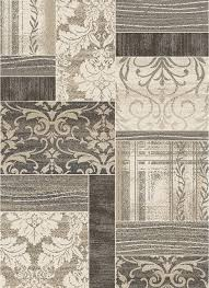 Damask Rugs Concord Global Casa Symphony Ivory Transitional Damask Patchwork
