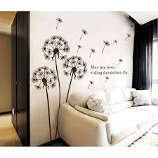 wall beautiful dandelion wall decal to bring your room feel fresh peel off wallpaper home depot wall murals dandelion wall decal