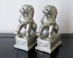 foo dog bookends foo dog bookends etsy