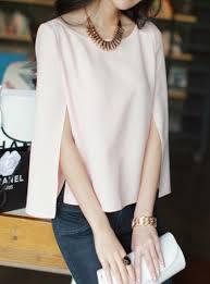 sleeve chiffon blouse pink split sleeve chiffon blouse abaday com