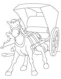8 Images Horse Buggy Coloring Pages Knight Horse