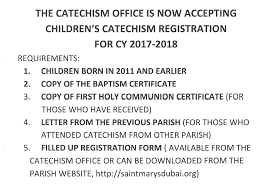 childrens catechism st mary u0027s catholic church dubai uae