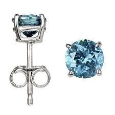 blue diamond stud earrings blue diamond stud earrings gift magi