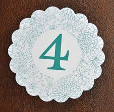 scalloped table number cards wiregrass weddings