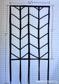 Building A Garden Trellis Remodelaholic Diy Chevron Lattice Trellis Tutorial